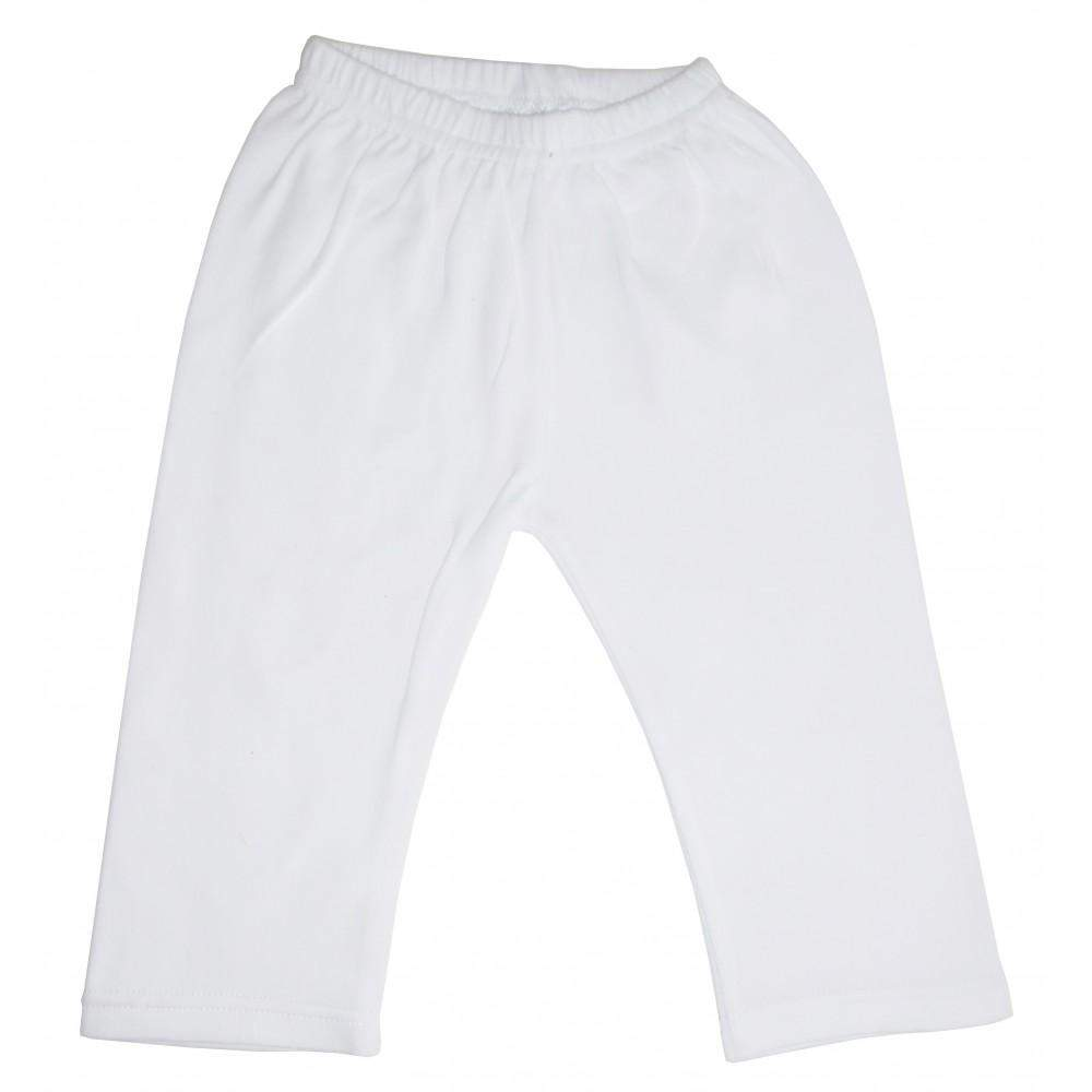 White Interlock Sweat Pants (NB,S,M,L)