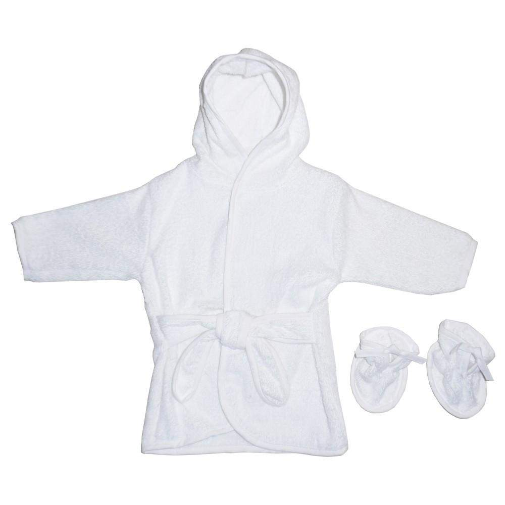 White Terry Hooded Bath Robe