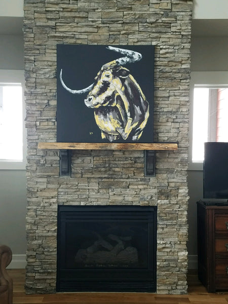 "Print of ""Texas Longhorn"" Painting"