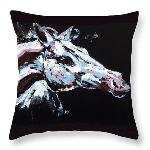 Abstract Horse - Throw Pillow
