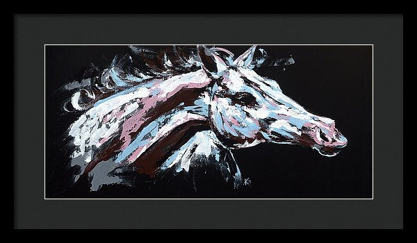 Abstract Horse - Framed Print