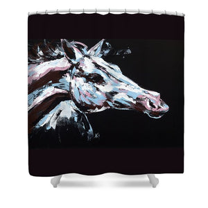 Abstract Horse - Shower Curtain