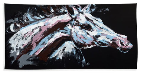 Abstract Horse - Beach Towel
