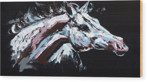 Abstract Horse - Wood Print