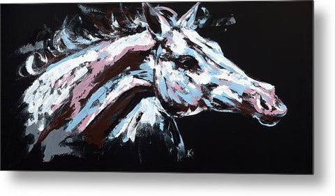 Abstract Horse - Metal Print