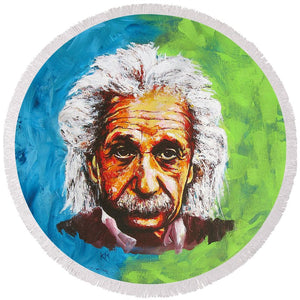 Albert Tribute - Round Beach Towel