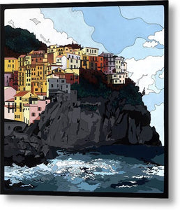 Manarola W/hidden Pictures - Metal Print