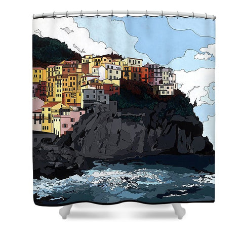 Manarola W/hidden Pictures - Shower Curtain