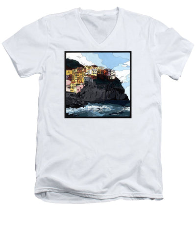 Manarola W/hidden Pictures - Men's V-Neck T-Shirt