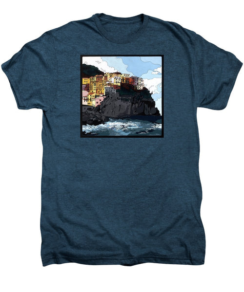 Manarola W/hidden Pictures - Men's Premium T-Shirt
