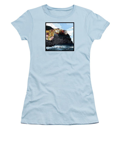 Manarola W/hidden Pictures - Women's T-Shirt (Athletic Fit)