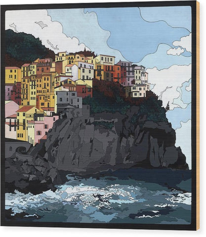 Manarola W/hidden Pictures - Wood Print