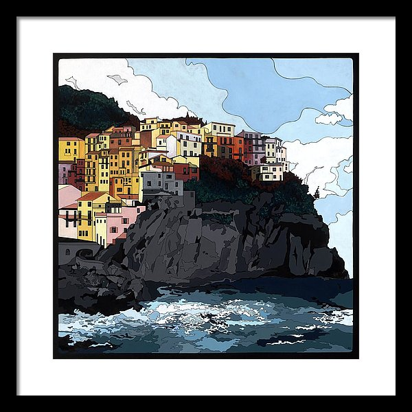 Manarola W/hidden Pictures - Framed Print
