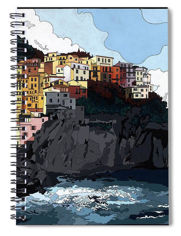 Manarola W/hidden Pictures - Spiral Notebook