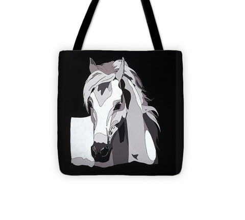 Arabian Horse With Hidden Picture - Tote Bag