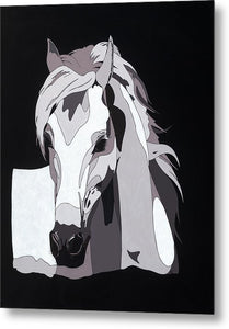Arabian Horse With Hidden Picture - Metal Print