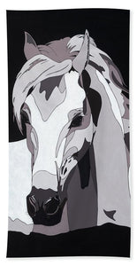 Arabian Horse With Hidden Picture - Bath Towel