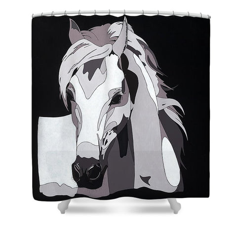 Arabian Horse With Hidden Picture - Shower Curtain