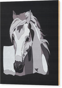 Arabian Horse With Hidden Picture - Wood Print