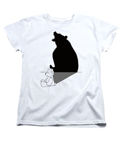 Teddybear With Roaring Bear Shadow - Women's T-Shirt (Standard Fit)
