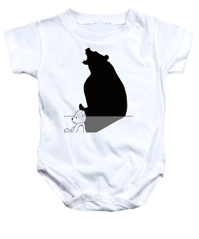 Teddybear With Roaring Bear Shadow - Baby Onesie