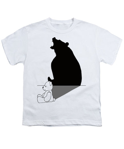 Teddybear With Roaring Bear Shadow - Youth T-Shirt