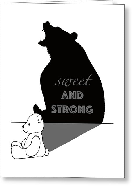 Empowerment Teddybear - Greeting Card