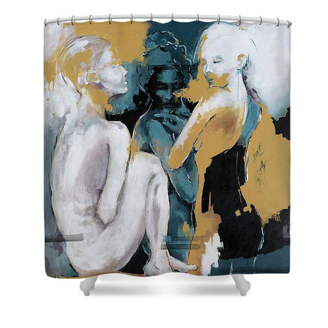 Backstage - Beauties Sharing Secrets - Shower Curtain