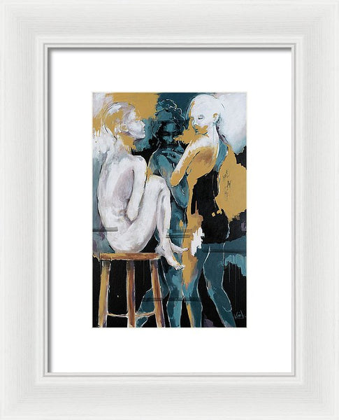 Backstage - Beauties Sharing Secrets - Framed Print