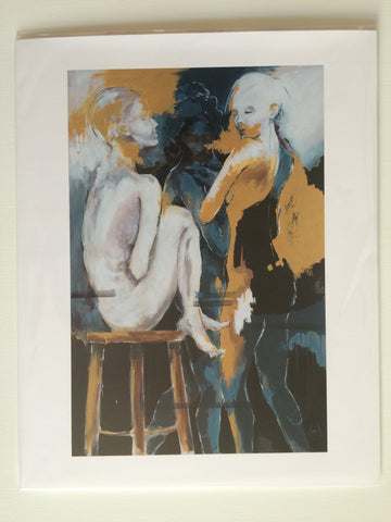 "Print of ""Backstage"" Painting"