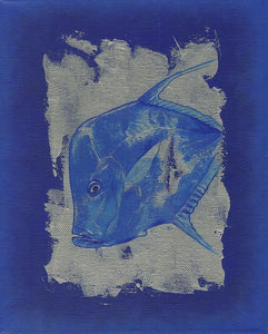 Blue Fish - Art Print