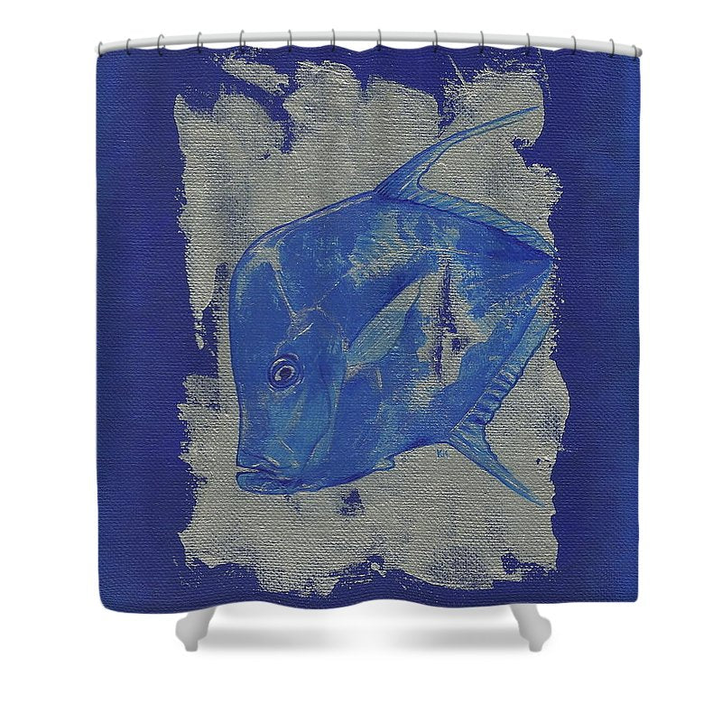 Blue Fish - Shower Curtain