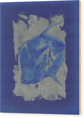 Blue Fish - Wood Print