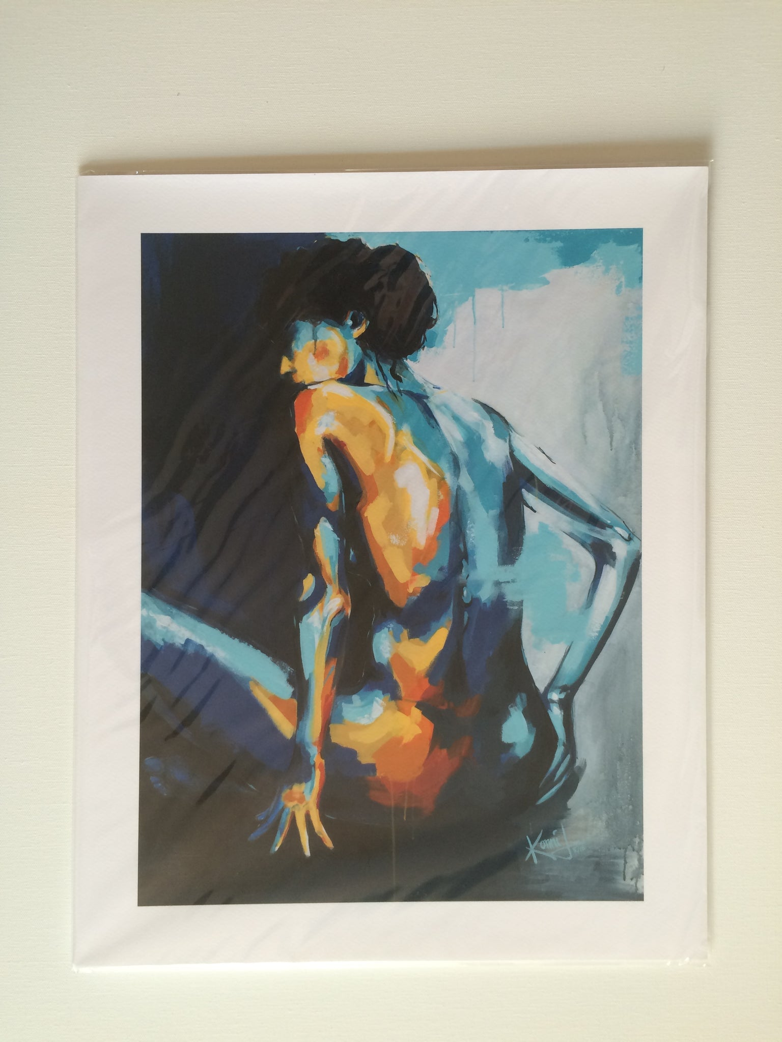 "Print of ""Blue Grace"" Painting"