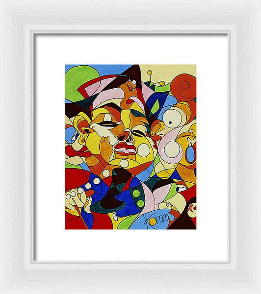Cartoon Painting With Hidden Pictures - Framed Print