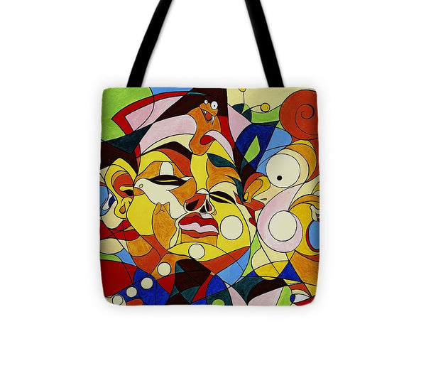 Cartoon Painting With Hidden Pictures - Tote Bag