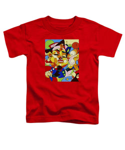 Cartoon Painting With Hidden Pictures - Toddler T-Shirt
