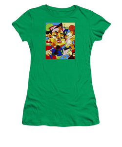Cartoon Painting With Hidden Pictures - Women's T-Shirt (Athletic Fit)
