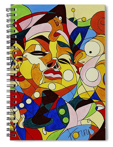 Cartoon Painting With Hidden Pictures - Spiral Notebook