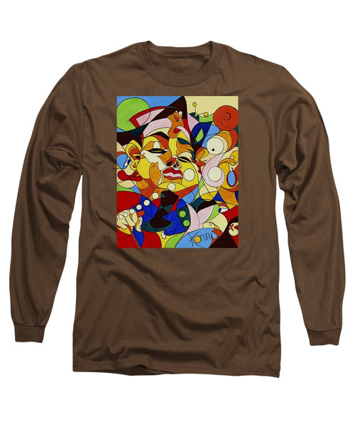 Cartoon Painting With Hidden Pictures - Long Sleeve T-Shirt