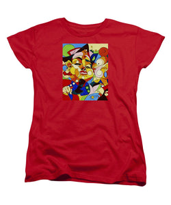 Cartoon Painting With Hidden Pictures - Women's T-Shirt (Standard Fit)
