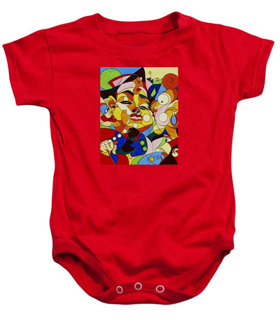Cartoon Painting With Hidden Pictures - Baby Onesie