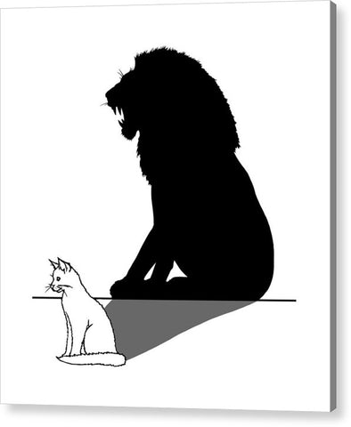 Cat With Lion Shadow - Acrylic Print