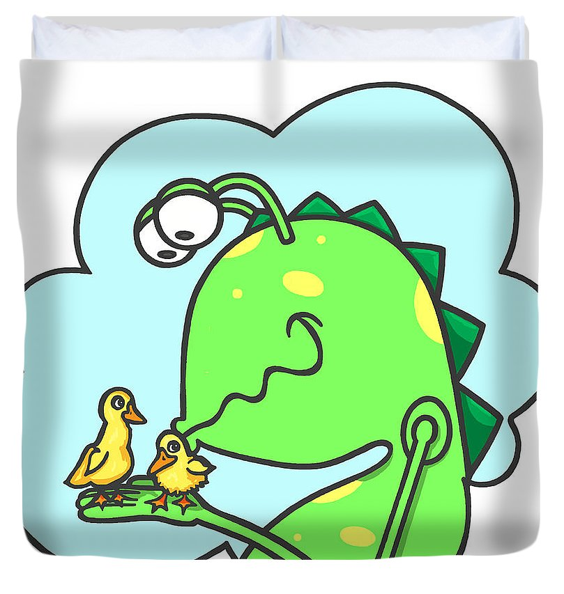 Monster Kissing Ducklings - Duvet Cover
