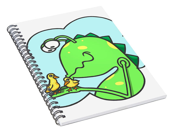 Monster Kissing Ducklings - Spiral Notebook