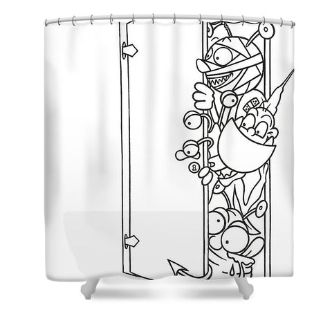 Curious Monster - Shower Curtain