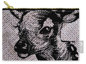 Deer On Burlap - Carry-All Pouch