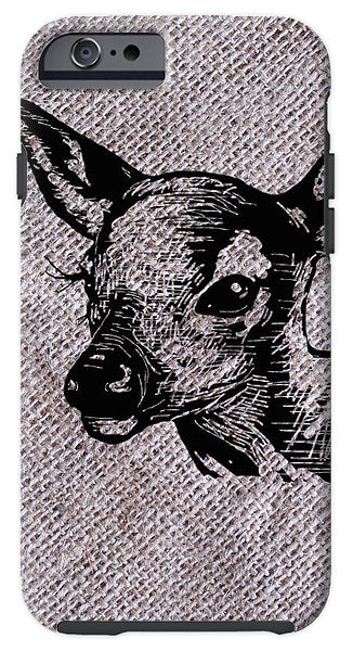 Deer On Burlap - Phone Case