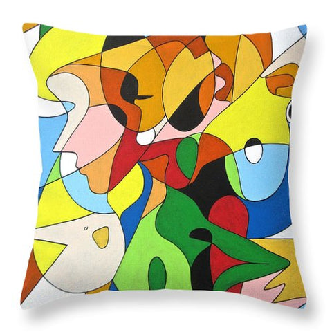 Faces - Throw Pillow