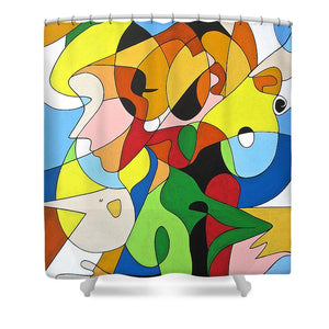 Faces - Shower Curtain